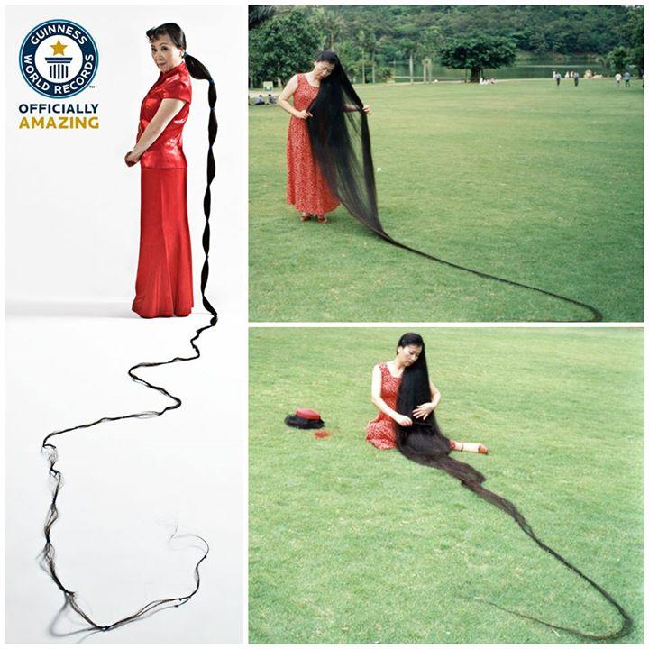 Xie Qiuping - Vrouw met het Langste Haar ter Wereld (5,627m)
