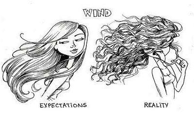 10 dingen die niet altijd even goed samen gaan met los haar: Wind