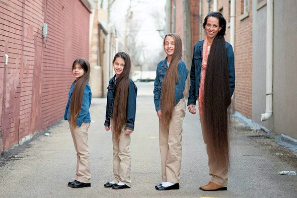 Echte Rapunzels: Terelynn Russell en dochters