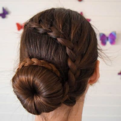Tutorial: Lace Braid Ballerina Bun Combo