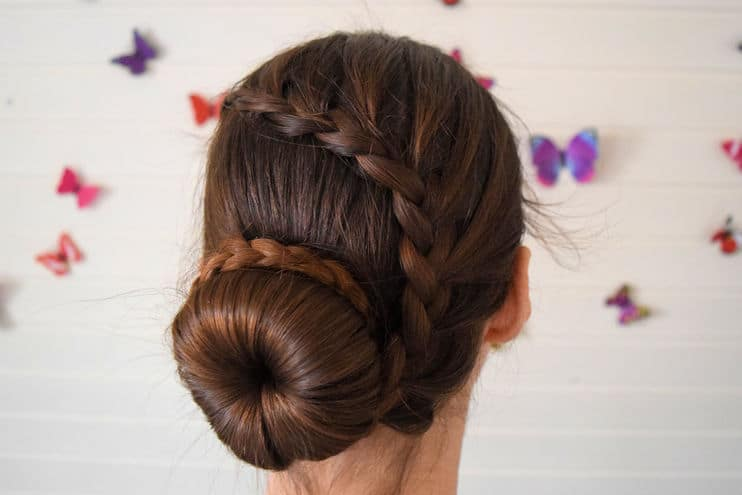 Lace Braid Ballerina Bun