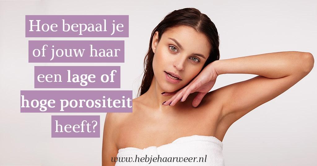 Hoe bepaal je of jouw haar een hoge of een lage porositeit heeft?