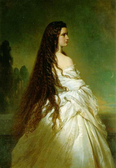 Keizerin Elisabeth van Wenen door Xaver Winterhalter in 1864 - 2