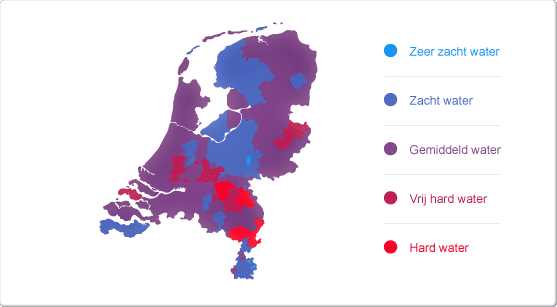 Waterhardheid in Nederland