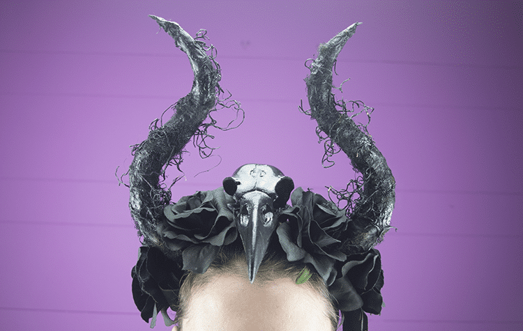 DIY: Halloween Raven Skull Haarband