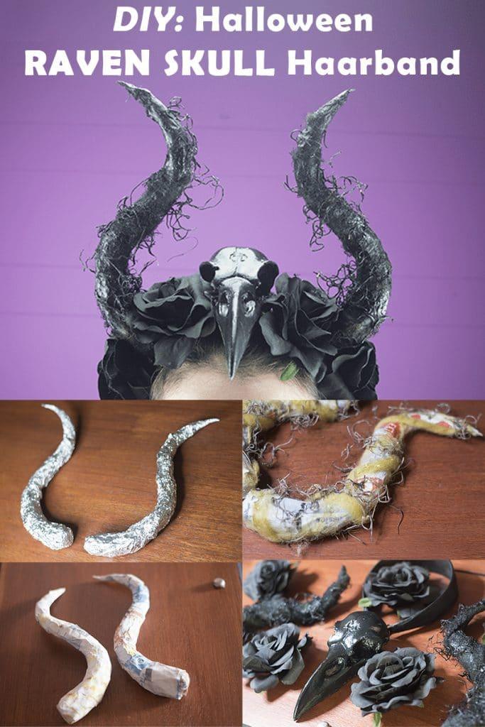 DIY: Verkleed jij je deze Halloween als de Evil Queen? Maak je eigen Raven Skull haarband!