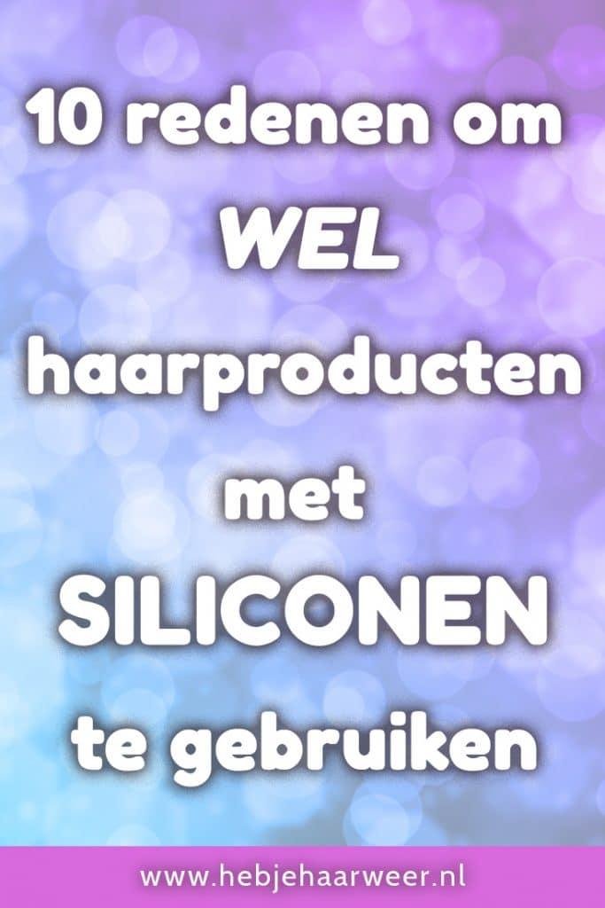 Siliconen hebben een slechte naam. Maar dat is niet geheel terecht. Ontdek de voordelen van siliconen in haarproducten in 10 redenen om wel haarproducten met siliconen te gebruiken.