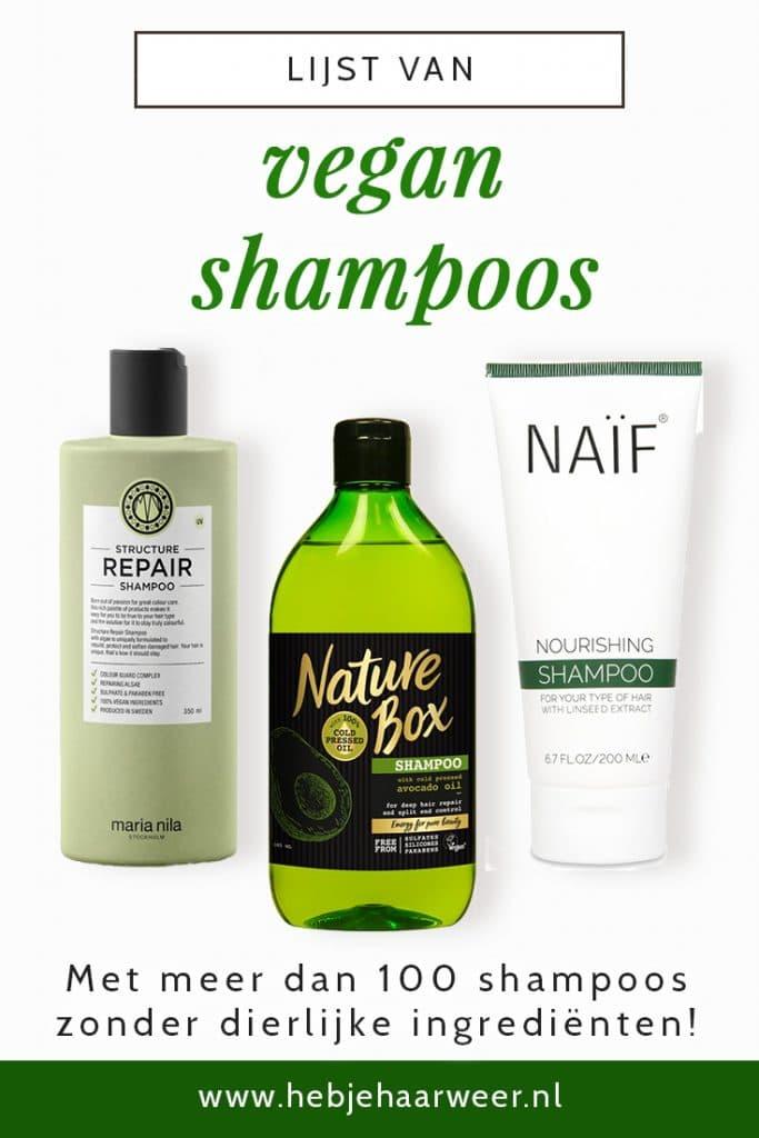 Ben jij vegan en op zoek naar shampoos zonder dierlijke ingrediënten? Bekijk dan nu deze volledige lijst met meer dan 100 in Nederland verkrijgbare vegan shampoos!