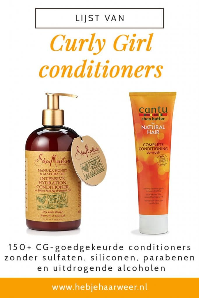 Curly Girl Method Conditioners zonder sulfaten en siliconen