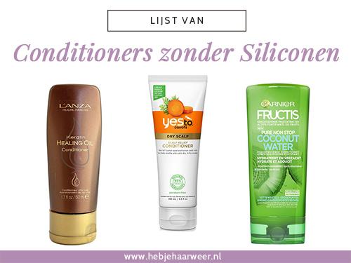 Conditioners zonder siliconen