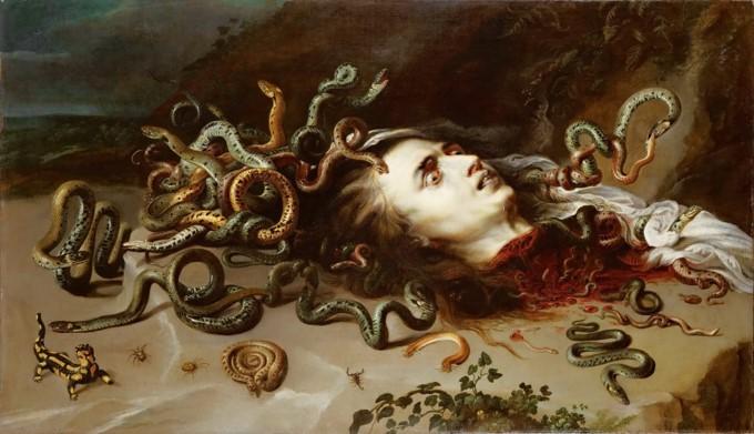 Medusa met slangenhaar