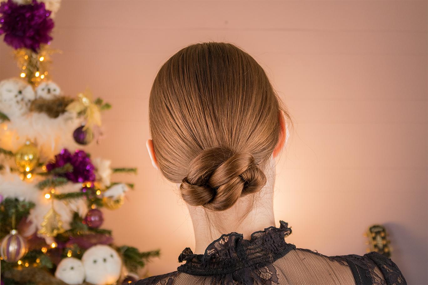Snelle knot lang haar