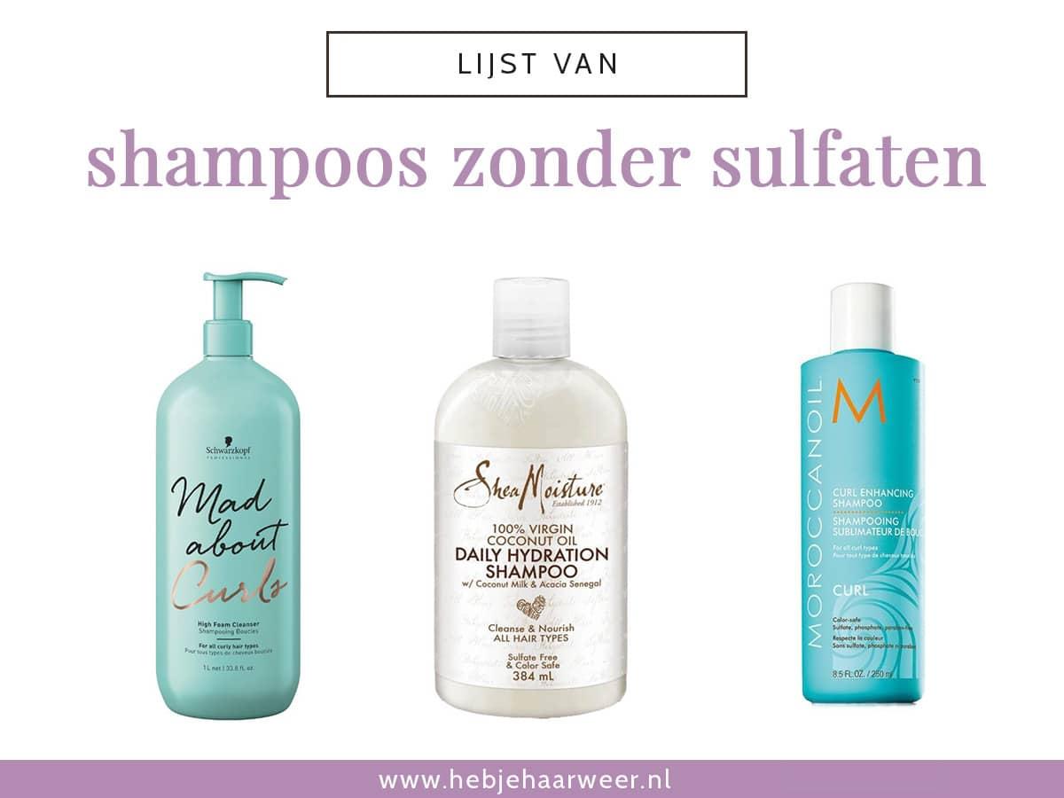 Ben je op zoek naar een milde shampoo zonder sulfaten? In deze lijst vind je meer dan 100 sulfaatvrije shampoos. Ontdek ook gelijk welke Curly Girl approved zijn en welke shampoos proteïne bevatten.