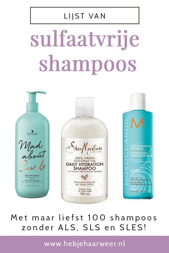 Lijst Shampoos zonder Sulfaten